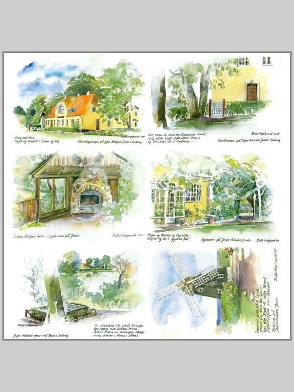 Postkort af Mølgaard - Alle 6 kort